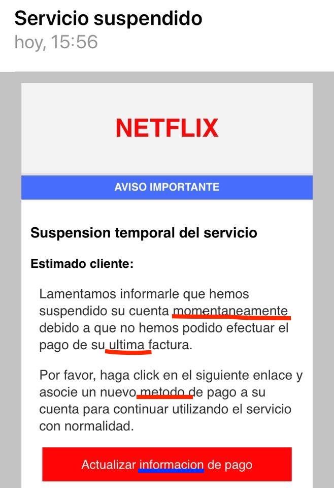 Netflix Ortografía